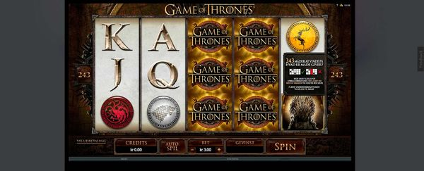 Game of Thrones spilleautomat hos Karamba Casino