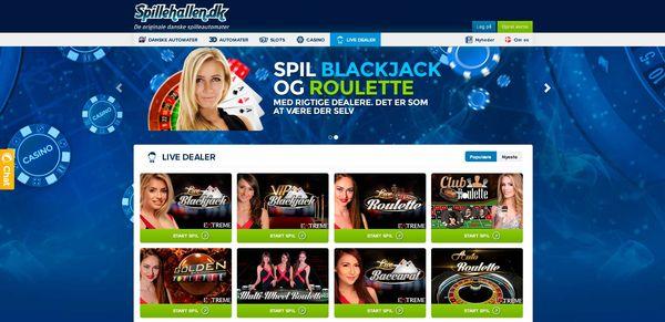 Spillehallens Live Casino
