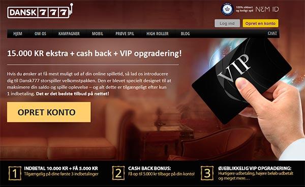 Dansk 777 VIP tilbud