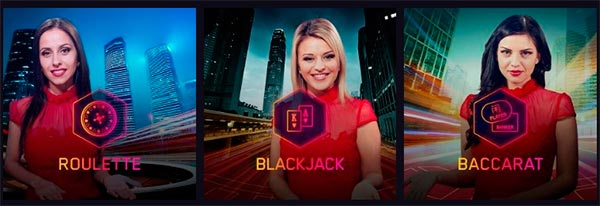 Live dealer spil: roulette, blackjack of baccarat