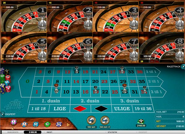 Du kan spille live roulette