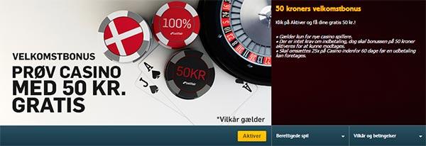 50kr bonus til Betfair Casino