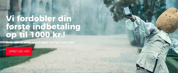 Casino.dk bonus op til 1000 KR på dit første indskud