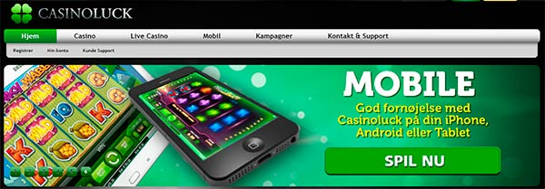 CasinoLuck Mobil - spil på din iPhone eller Android