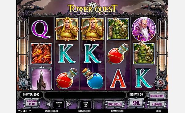 Tower Quest spilleautomat