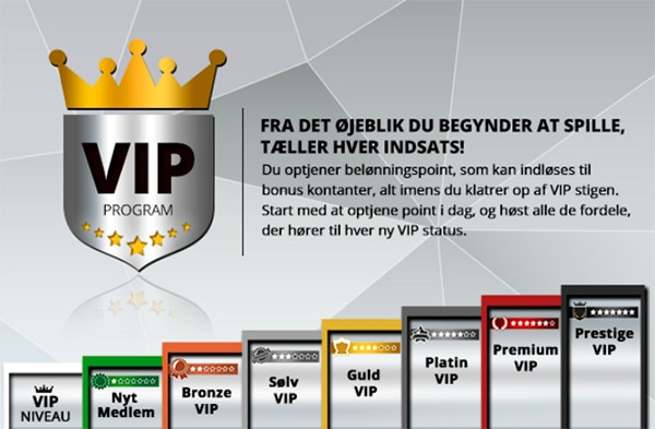 CasinoSjovs VIP program