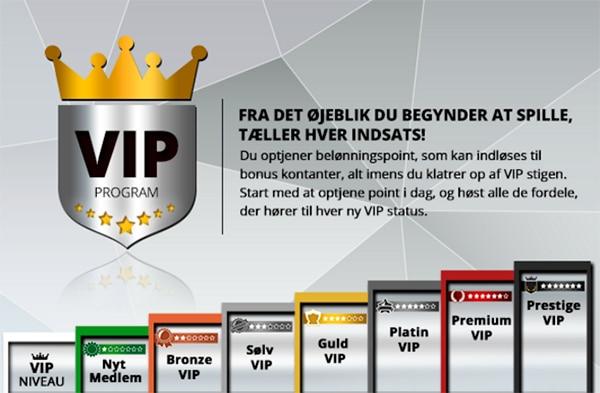 Casinosjovs VIP status