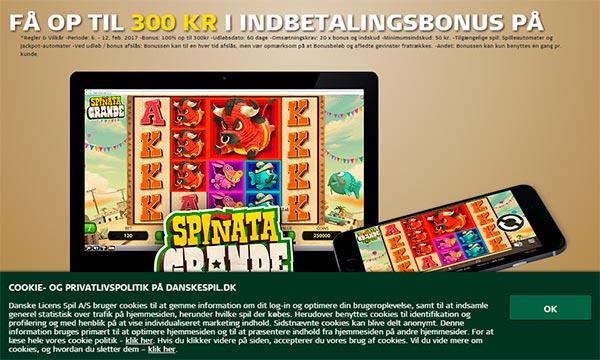 Bonus til casino.danskespil.dk