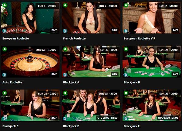 Via EveryMatrix netværket tilbyder Jetbull Casino live casino