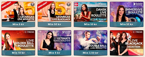 Live casino med dealere