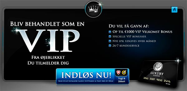 Luxury Casino VIP bonus