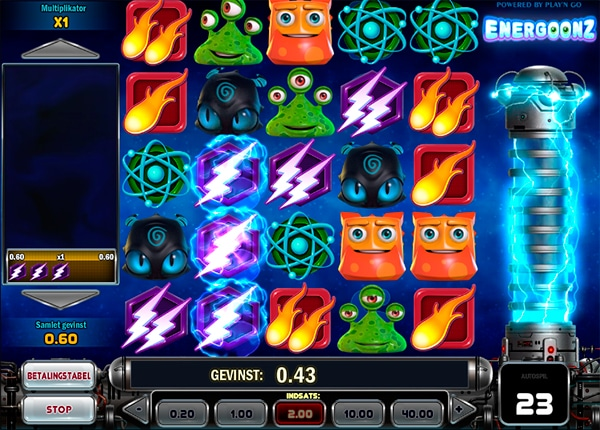 Energoonz spillemaskine