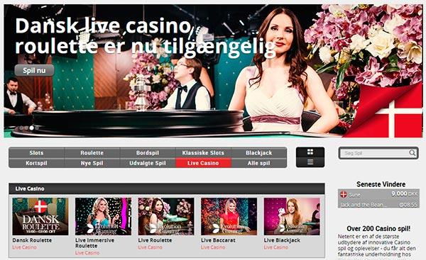 Dansk live casino