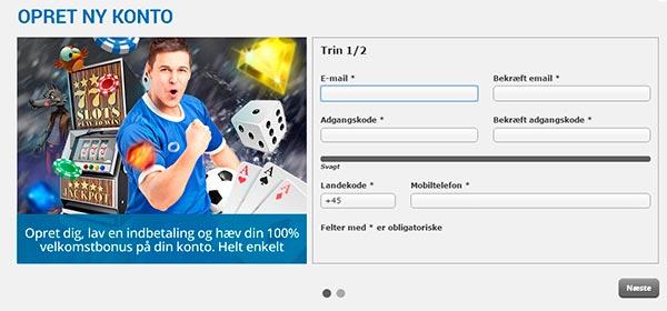 Opret en konto hos NordicBet