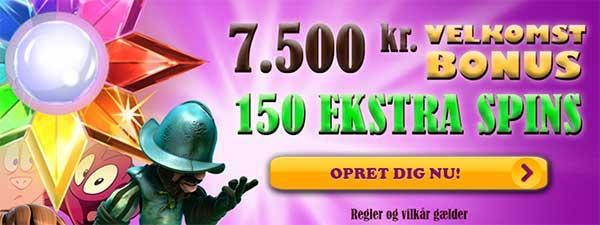 BingoSjov tilmed nye casinospillere en 100% velkomstbonus