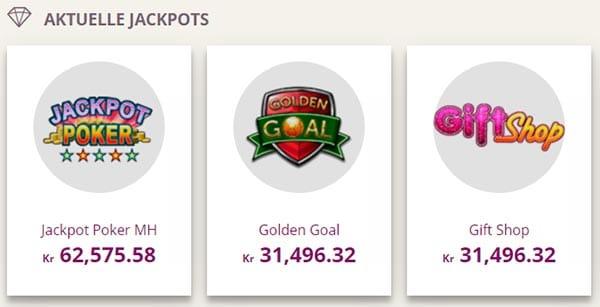 Aktuelle jackpots: Golden Goal, Gift Shop