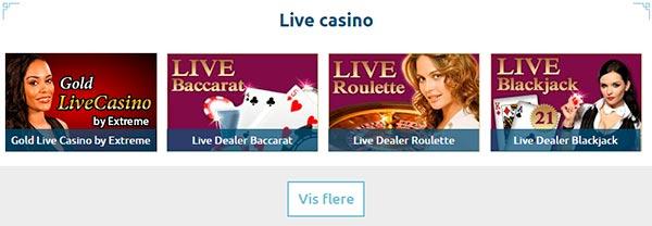 Live casino med smukkeste dealere