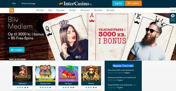 Op til 3000 kr i bonus hos Inter Casino