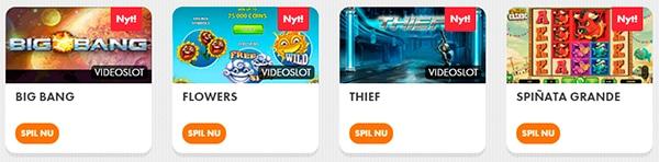 forskellige spilleautomater