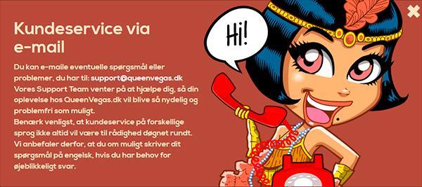 Queenvegas DK kundeservice