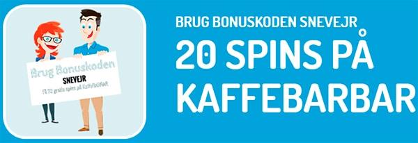 Bonus: 20 free spins