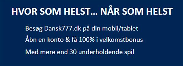 Dansk777 Mobil Bonus