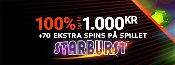 Next Casino bonus op til 1000 kr + 70 ekstra spins