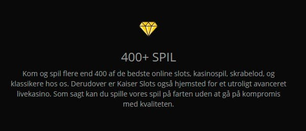 400 spil hos casino