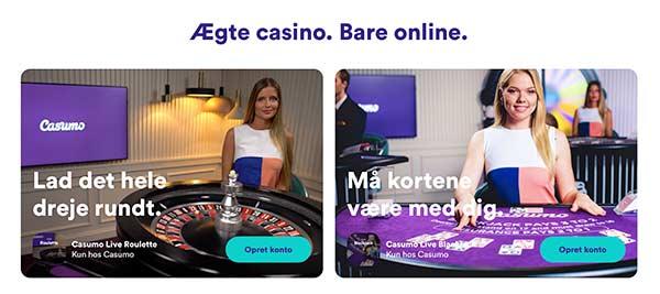 Spille live med ægte dealere