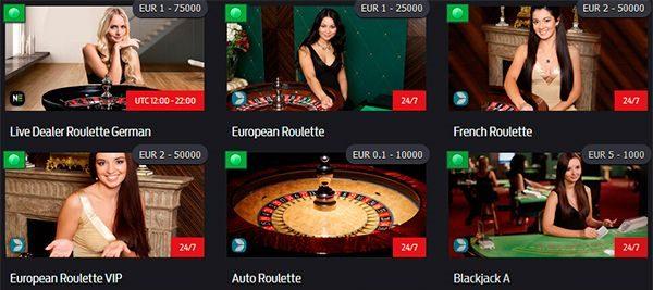 EB Casino live