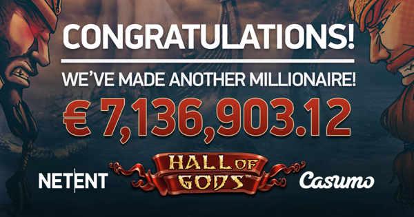 Hall of Gods fra NetEnt - 7M jackpot