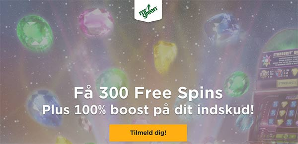 Mr Green 300 Free Spins