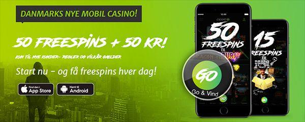Casinogo bonus: 50 kroner & 50 freespins