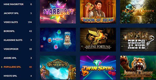 Masse forskellige spilleautomater