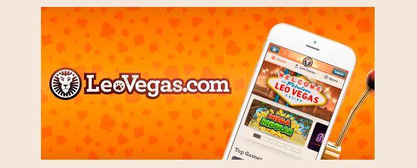 LeoVegas på mobilen - app