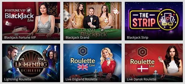 Live casinospil