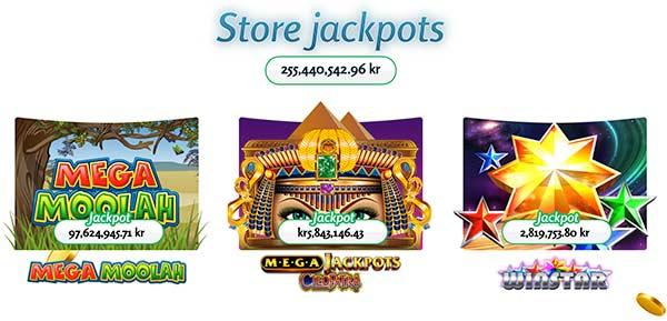 Store jackpots hos LuckyMeSlots Casino