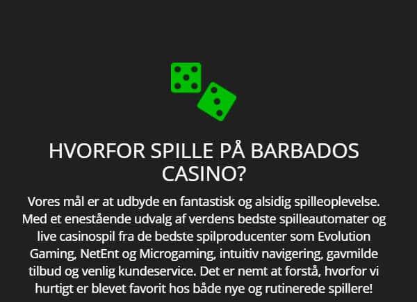 Hvorfor spille på Barbados Casino