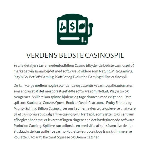 Verdens Bedste Casinospil