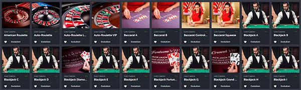 ComeOn Live Casino