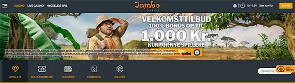 Jambo Casino bonus banner