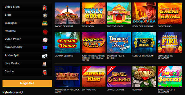 online casino spil hos Videoslots