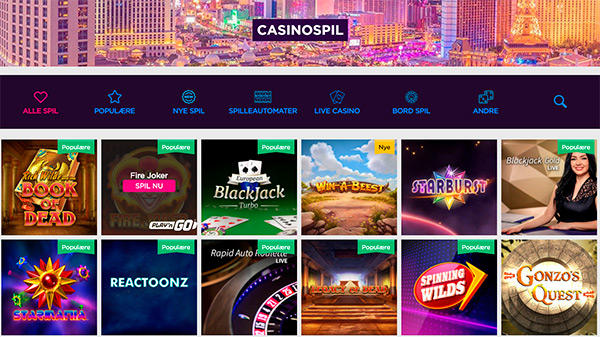 Lucky Vegas er spilleautomater